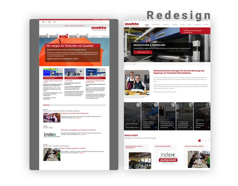 herold medien Referenz - Redesign Website Mahlo